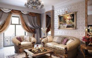 Неоклассический стиль в гостиной