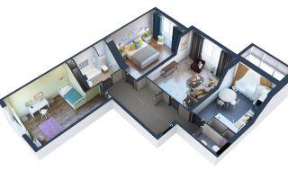 Проектирование квартиры в 3Д