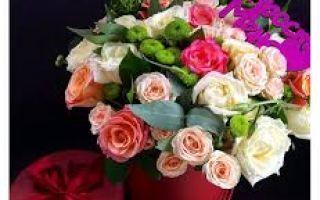 Купить шляпную коробку с цветами в Казани