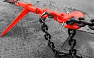 Как выбрать цепную стяжку правильно