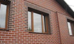 Фасады с кирпичной отделкой